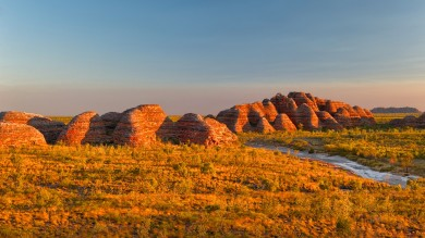 The Bungle Bungle Range of Purnululu National Park is a great place to admire the sunset in the Australian outback.
