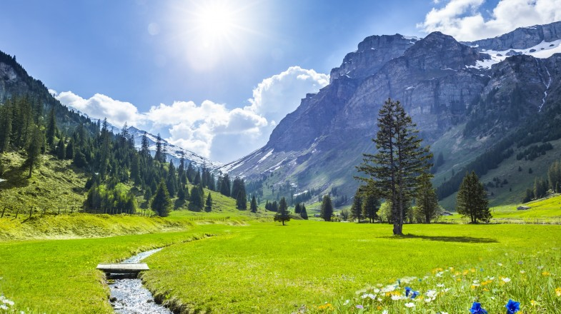 The Swiss Alps is known for helping people relax and unwind.