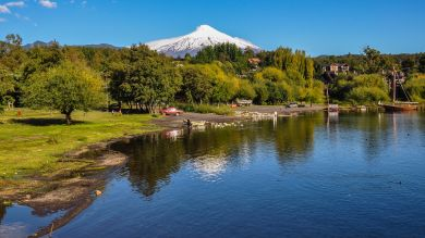 Villarrica Volcano in Pucon, Chile is probably the most notable volcano in the country.