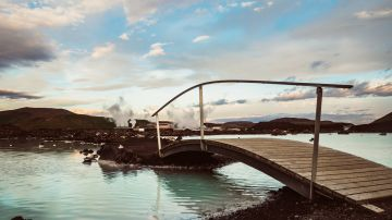 The Blue Lagoon is a premier hot spring in Iceland