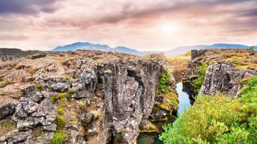 Thingvellir National Park in Iceland is a site of history