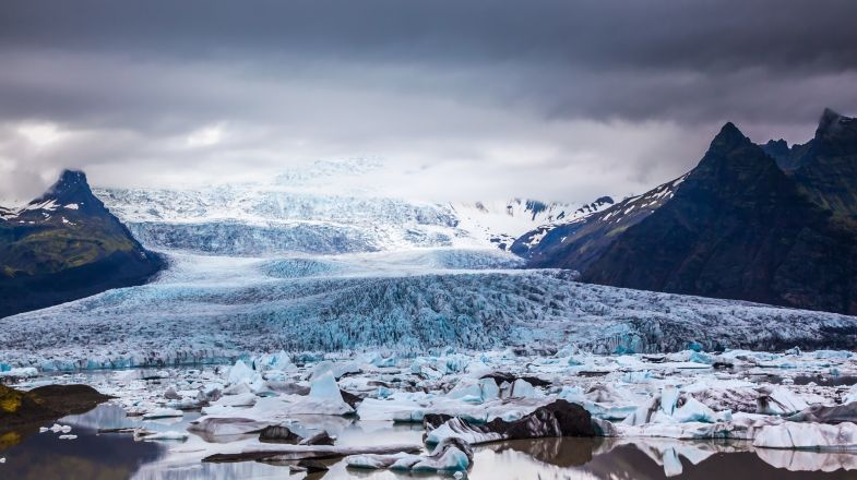The Vatnajokull glacier in Iceland is a must see place