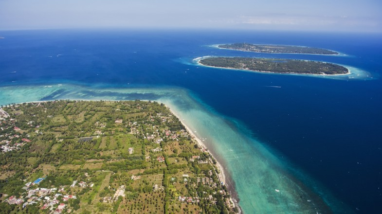 Gili Island is made up of three, almost identical islands.