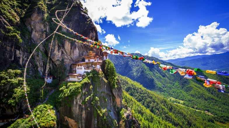 Tiger's Nest Monastery is a beautiful and unique place to visit in Bhutan.