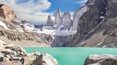A recently declared eighth wonder of the world, Torres del Paine is home to three gigantic rock towers called Los Torres, from which it gets its name.