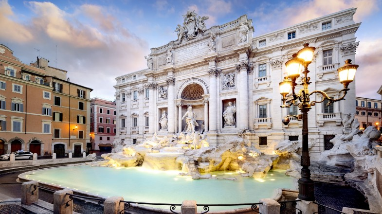 Located in the Quirinale district, the stunning Trevi fountain is one of the oldest water sources in Rome.