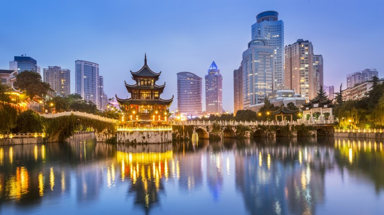 A view of the combination of the ancient and urbanized city — Beijing