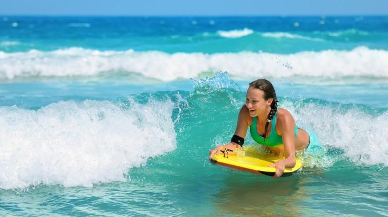 Body boarding, water sports in Dubai