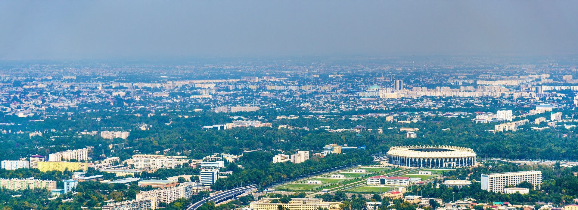 Aerial view of Tashkent in Uzbekistan