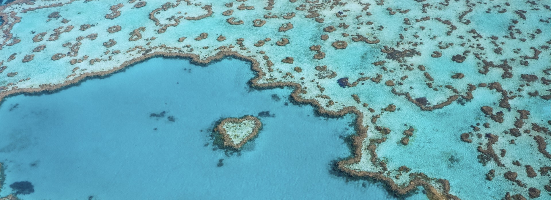 Go on a romantic holiday in Whitsundays and visit the Heart Reef.