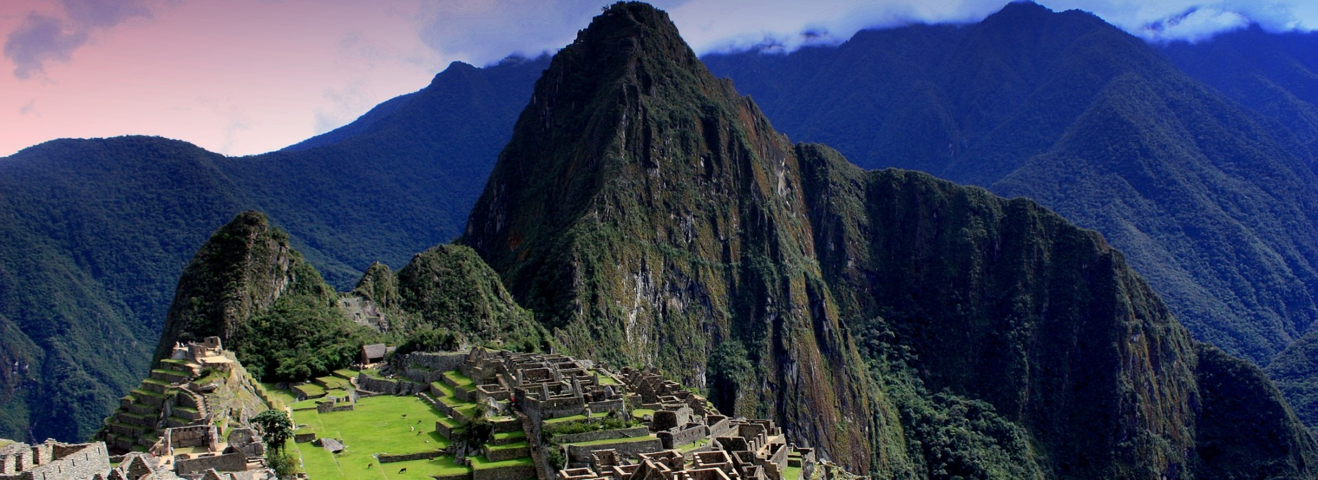 View of Machu Picchu from the Inca Trail