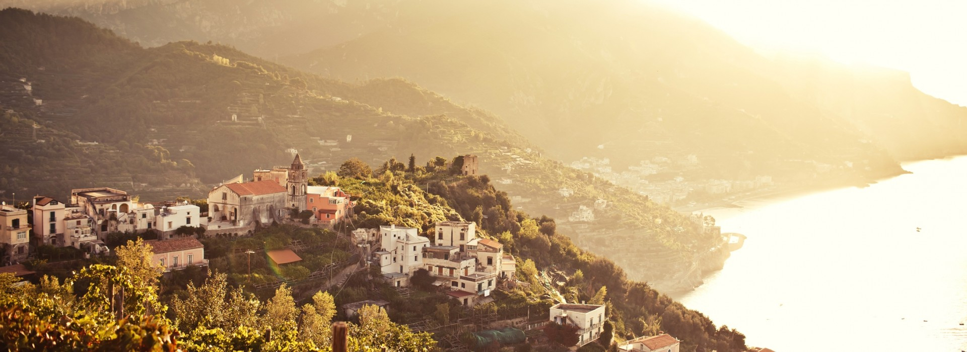 Ravello, a refined, polished town almost entirely dedicated to tourism