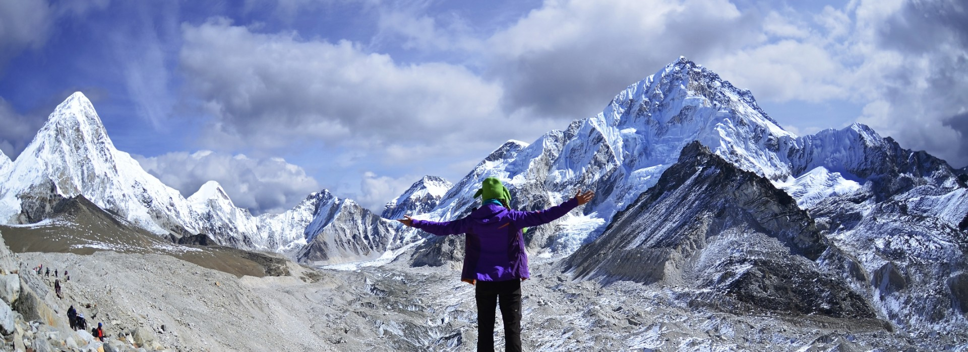 Young woman trekking in the Everest region of Nepal