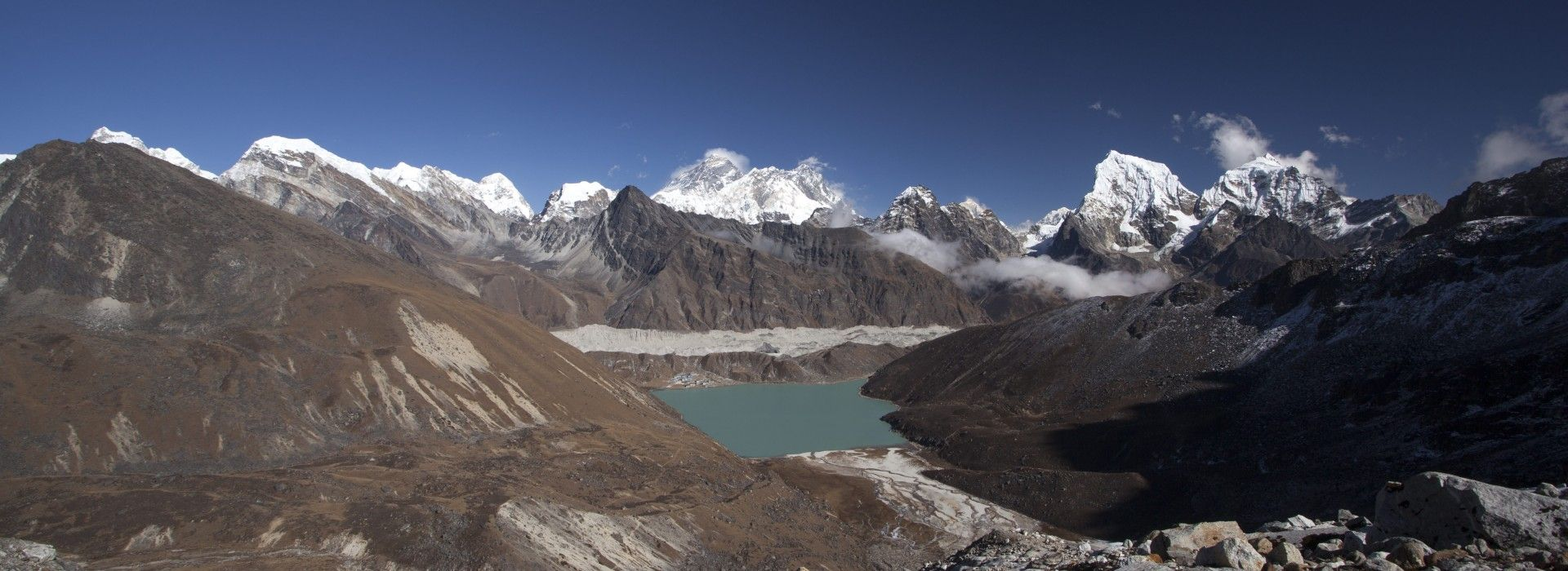 A view from Gokyo Ri - a small peak near Gokyo Village - on the Gokyo Trek