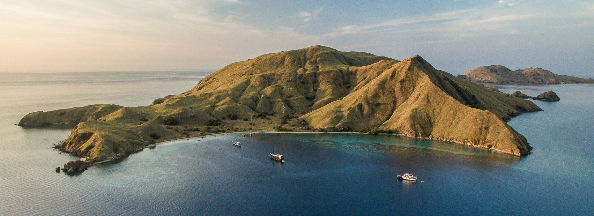 Aerial view of Komodo Islands