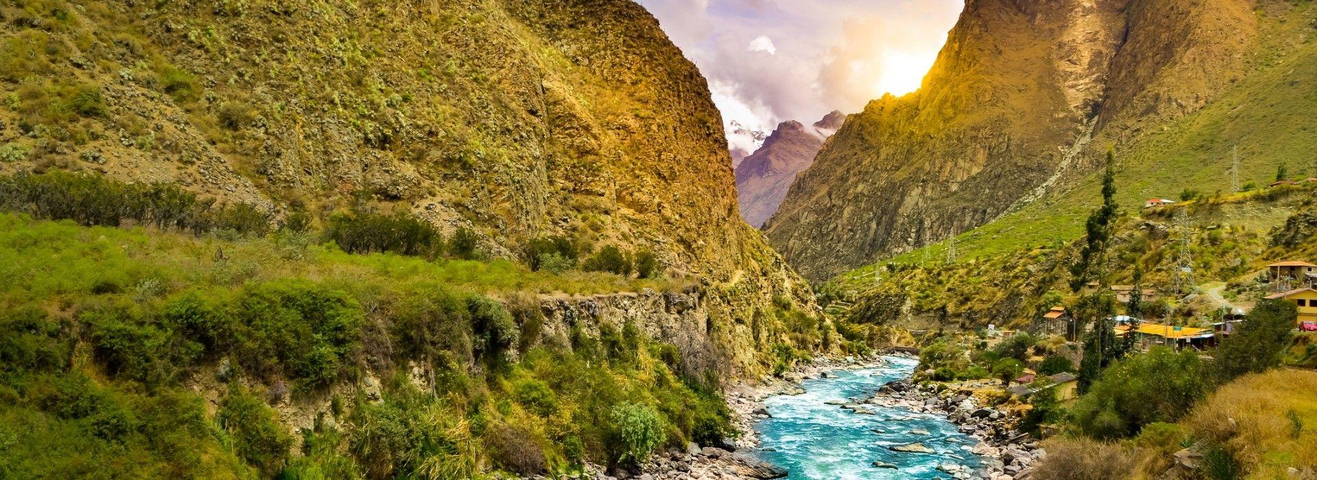 Aguas Calientes, also known as Machu Picchu Pueblo, this town lies in a deep gorge below the ruins.
