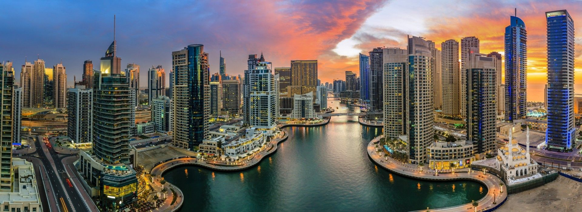 Dubai Marina, one of the world's largest and most luxurious waterfront communities