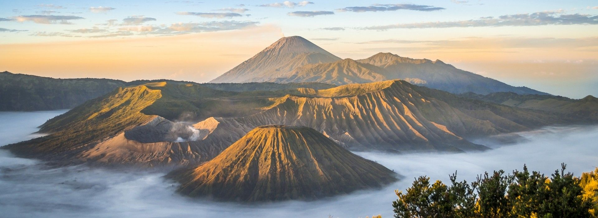Mount Bromo stands at 2329 meters above sea-level.