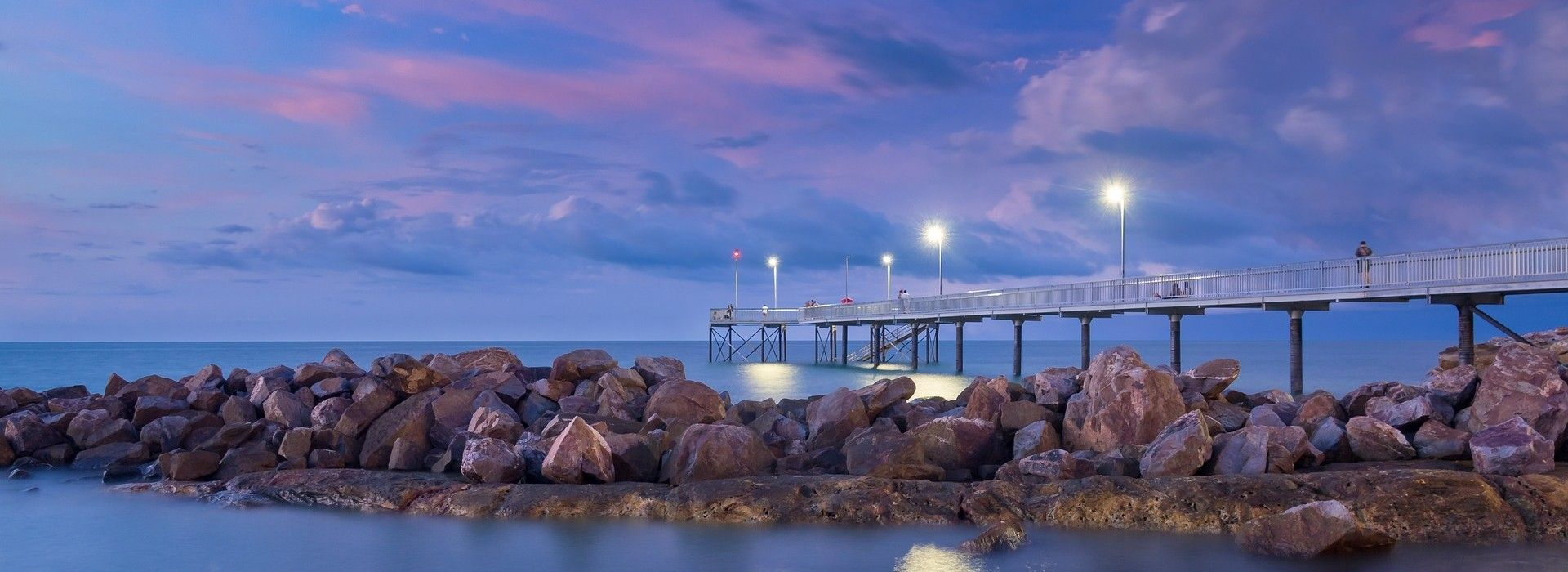 Nightcliff Jetty in Darwin is a great place to enjoy the sunset and sunrise or to throw a fishing line to get the catch of the day.