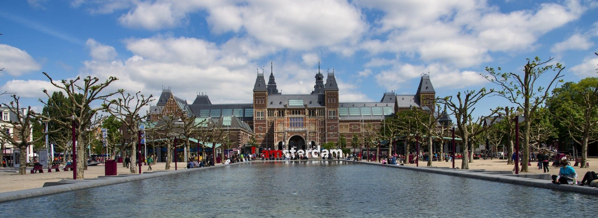 The Rijksmuseum, one of Amsterdam's grandest and most popular museums