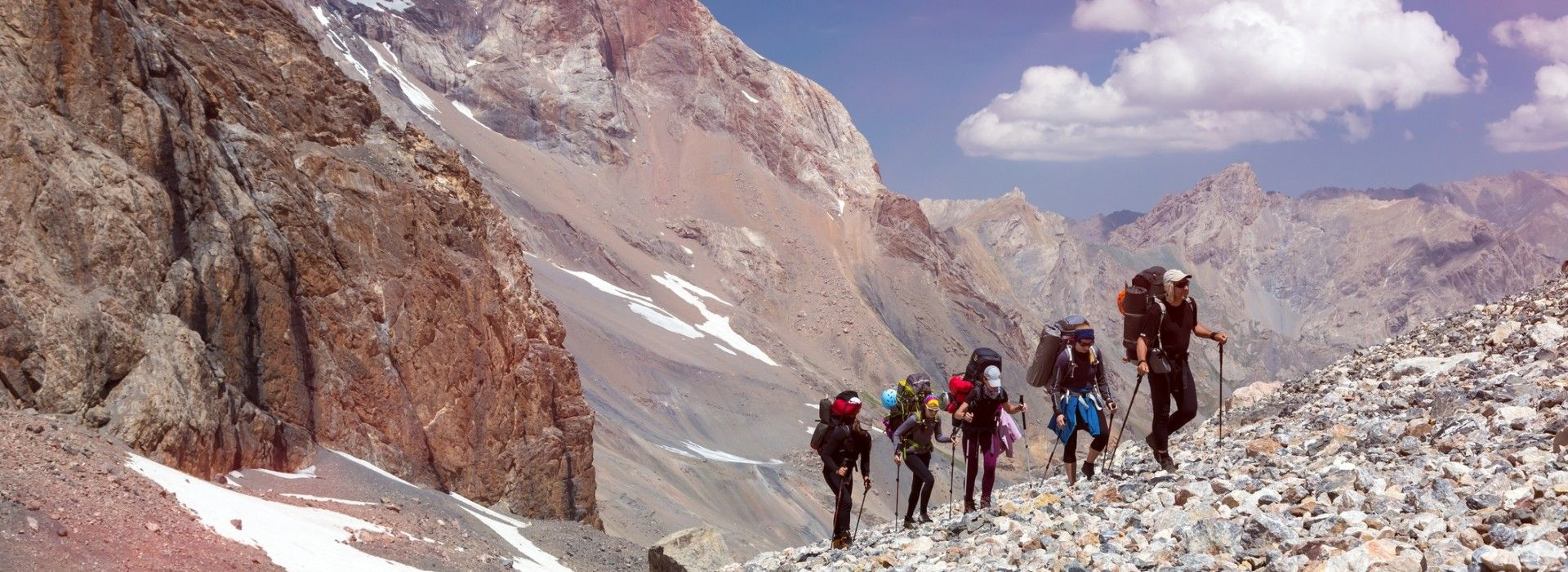 Trekking tours in the mountains