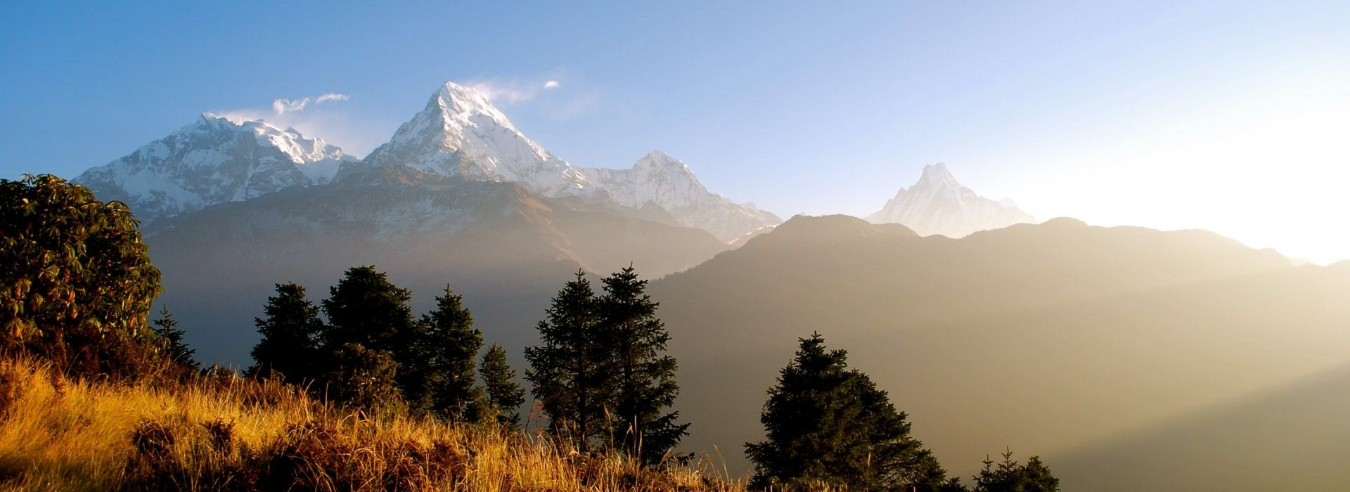 View from atop Poonhill on the Poonhill trek in Nepal.