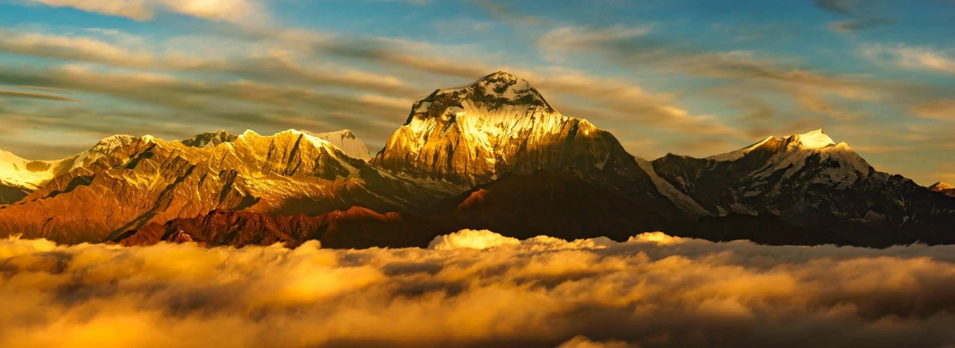 View of Mount Dhaulagiri at Sunrise from Poonhill