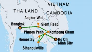 12 Days Cambodia Basic From Bangkok To Saigon
