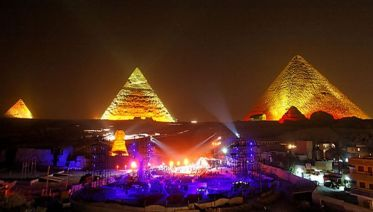 2 Hour Sound And Light Show At The Pyramids
