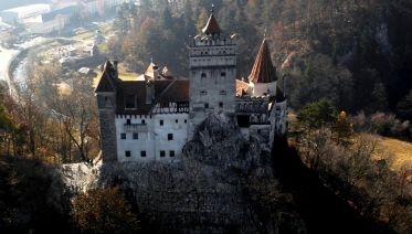 Airplane tour over Dracula's Castle