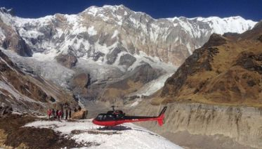Annapurna Base Camp Landing By Helicopter