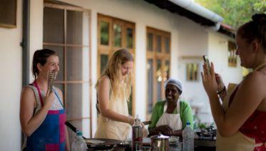 Cooking at Kaliveedu