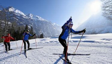 Cross-country Skiing in the Swiss Alps