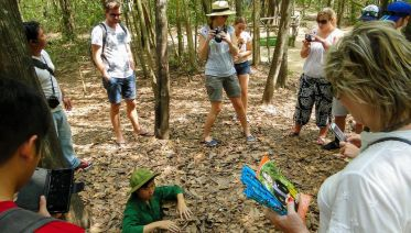 Cu Chi Tunnels Half-Day Tour By Speedboat From Saigon