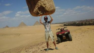 Desert Quad Biking Around The Giza Pyramids