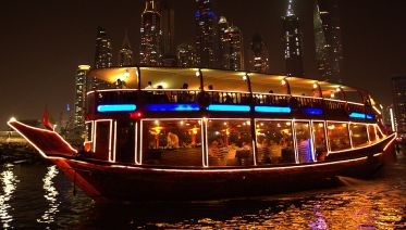 Dinner on Traditional Dubai Dhow Cruise