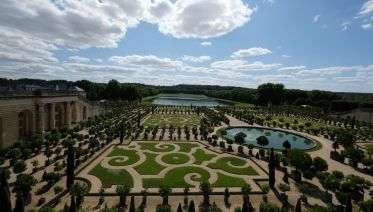 Evening At Versailles With Garden