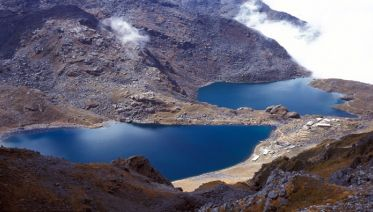 Everest base camp with Gokyo valley