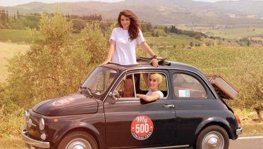 Fiat 500 Vintage Tour - Chianti Roads from San Gimignano