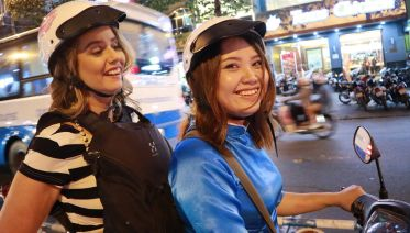 Food Adventure With Female Bikers