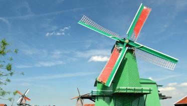 from Amsterdam:  Zaanse Schans windmill village tour