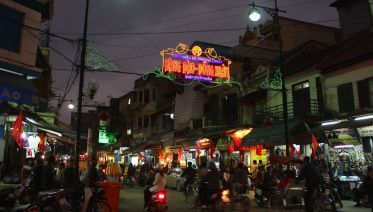 Hanoi Night Street Food And Water Puppet Show