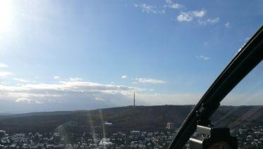 Helicopter Flight over Budapest