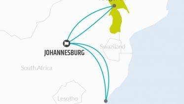 Johannesburg, Kruger & Durban Explorer 10D/9N