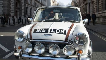 London Landmarks In A British Classic Car
