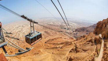 Masada and the Dead Sea from Tel Aviv