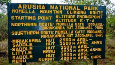 Mount Meru Trek 4D/3N (Tanzania)