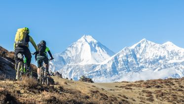 Mountain Biking On The Annapurna Circuit