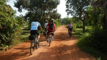 Mountain Biking the Country side of Siem Riep