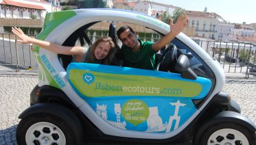 Old Lisbon in a two Seater electric car with Audio Guide